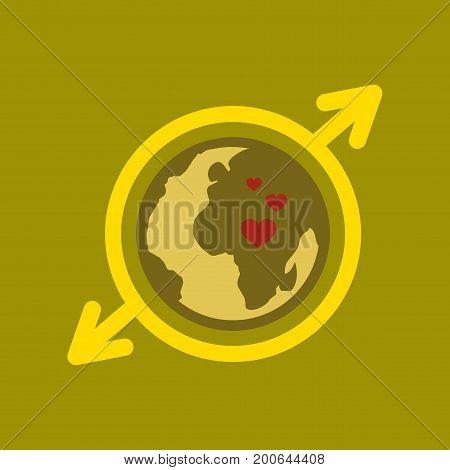 flat icon on stylish background gays Earth symbol