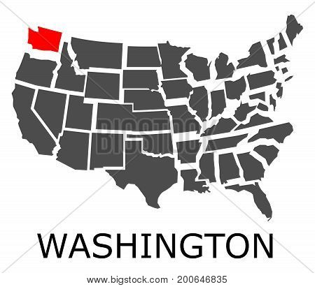 State Of Washington On Map Of Usa