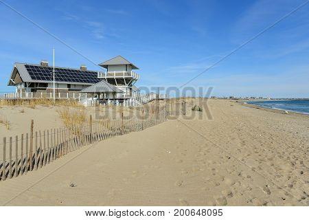 East Matunuck State Beach in South Kingstown, Rhode Island, USA.