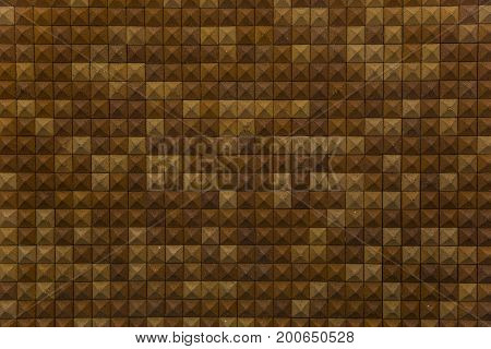 Background of red and orange clay floor tiles in square shape with grungy texture and looks