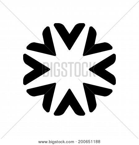 Star circle abstract vector logo design. Logo template professional business icon. Company identity symbol concept