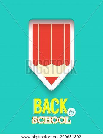 Back to school creative card. Vector illustration.