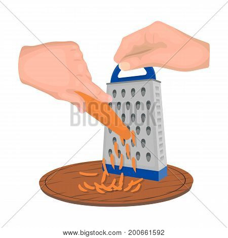 Grater, single icon in cartoon style.Grater, vector symbol stock illustration .