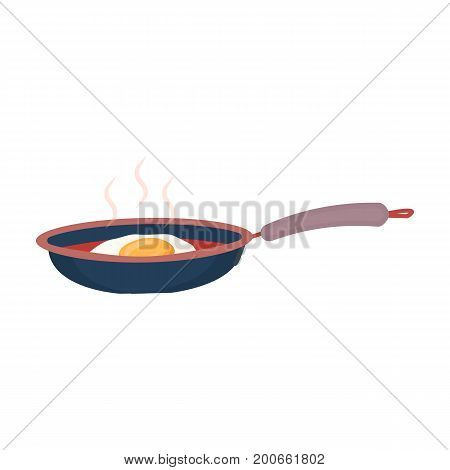 Frying pan, single icon in cartoon style.Frying pan vector symbol stock illustration .