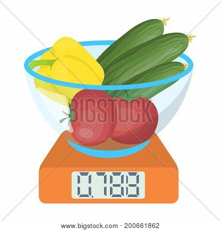 Scales, single icon in cartoon style.Scales, vector symbol stock illustration .