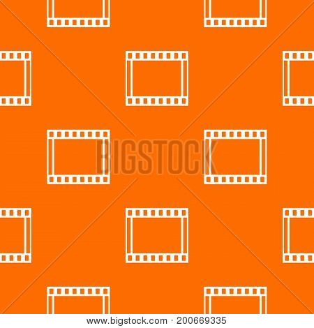 Film with frames movie pattern repeat seamless in orange color for any design. Vector geometric illustration
