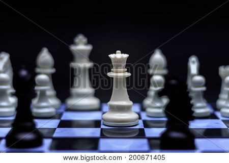 Chess game. Business Strategy and Success Concept