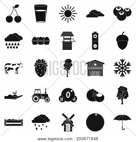 Irrigation icons set. Simple set of 25 irrigation vector icons for web isolated on white background