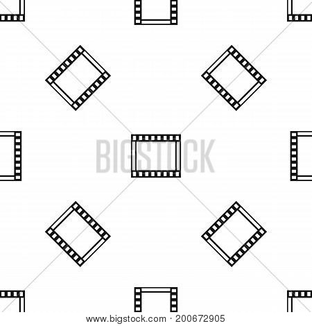 Film with frames movie pattern repeat seamless in black color for any design. Vector geometric illustration
