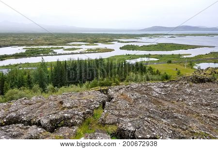 Lakes And Beautiful Landscape Nature In Iceland