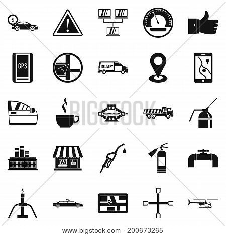 Fueling icons set. Simple set of 25 fueling vector icons for web isolated on white background