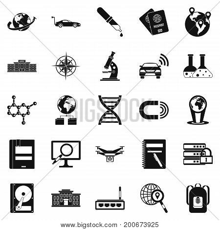 Technical evolution icons set. Simple set of 25 technical evolution vector icons for web isolated on white background