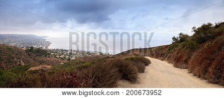 Dark Rain Clouds Over The Coastline Of Laguna Beach