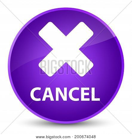 Cancel Elegant Purple Round Button