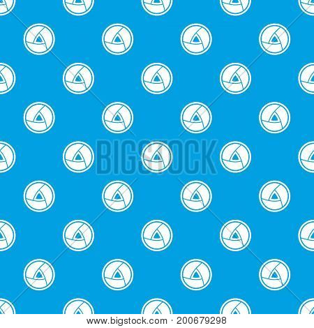 Objective pattern repeat seamless in blue color for any design. Vector geometric illustration