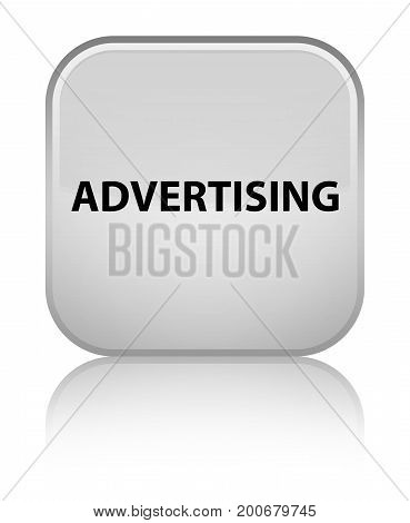 Advertising Special White Square Button