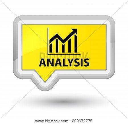Analysis (statistics Icon) Prime Yellow Banner Button