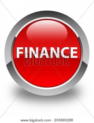 Finance Glossy Red Round Button