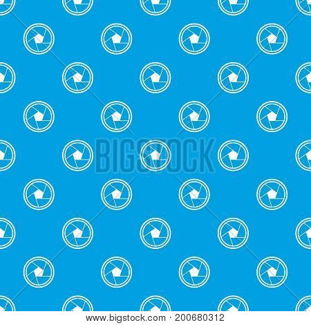 Photo objective pattern repeat seamless in blue color for any design. Vector geometric illustration