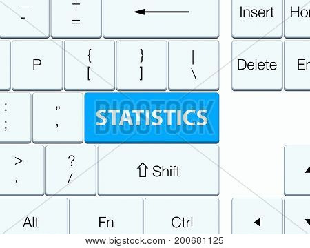 Statistics Cyan Blue Keyboard Button