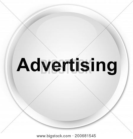 Advertising Premium White Round Button
