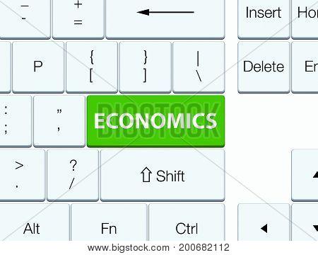 Economics Soft Green Keyboard Button