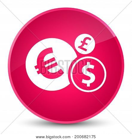 Finances Icon Elegant Pink Round Button