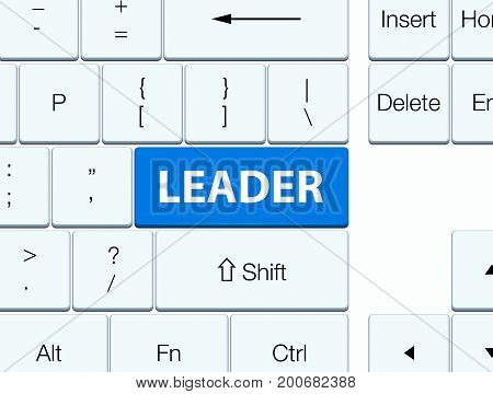 Leader Blue Keyboard Button