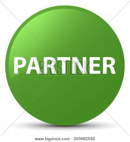 Partner Soft Green Round Button