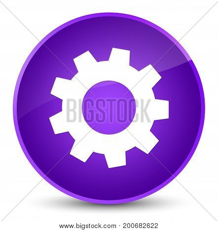 Process Icon Elegant Purple Round Button