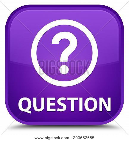 Question Special Purple Square Button