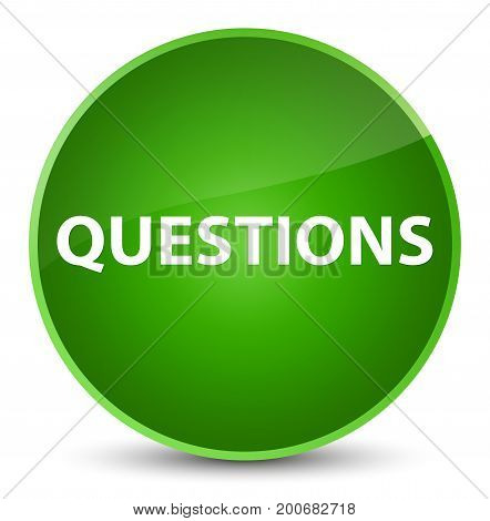 Questions Elegant Green Round Button