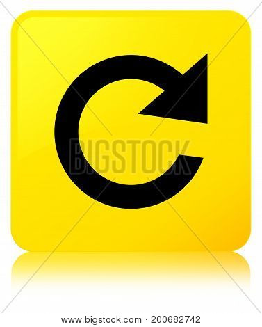 Reply Rotate Icon Yellow Square Button