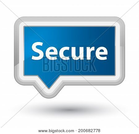 Secure Prime Blue Banner Button