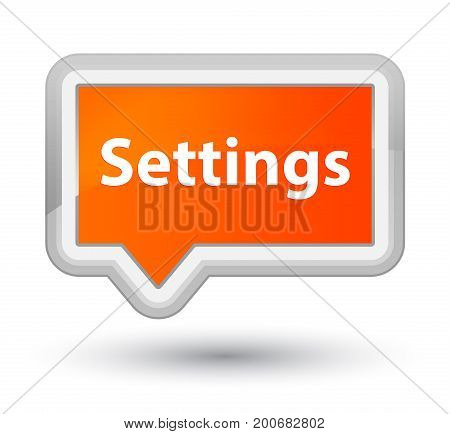Settings Prime Orange Banner Button