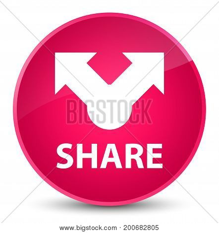 Share Elegant Pink Round Button