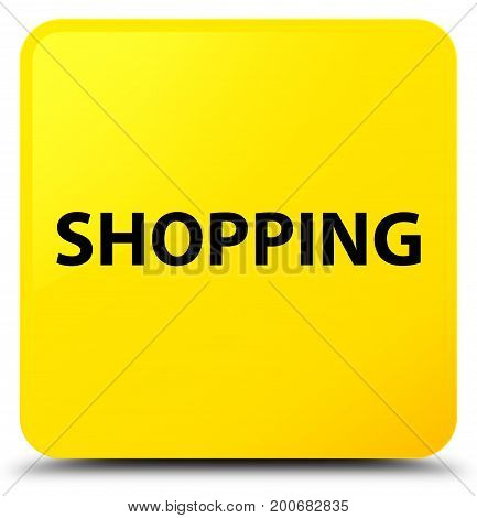 Shopping Yellow Square Button