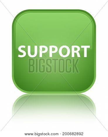 Support Special Soft Green Square Button