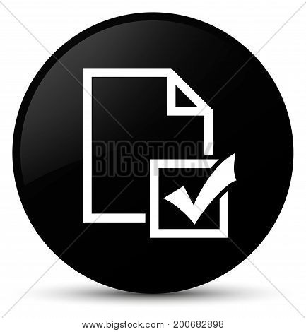 Survey Icon Black Round Button