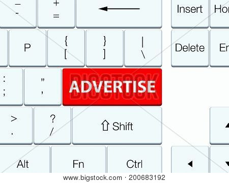 Advertise Red Keyboard Button