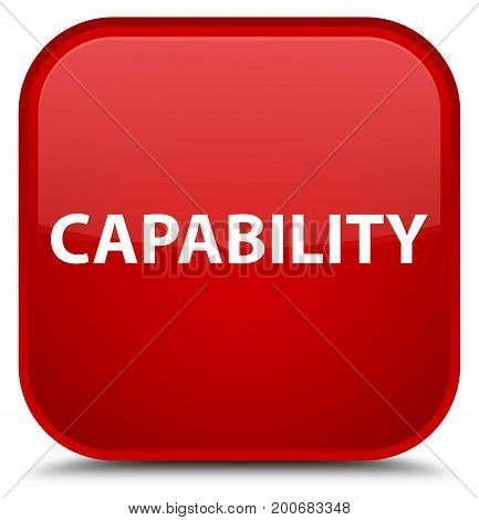 Capability Special Red Square Button