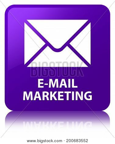 E-mail Marketing Purple Square Button