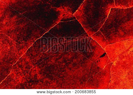 Lava fire hot cement road texture background.