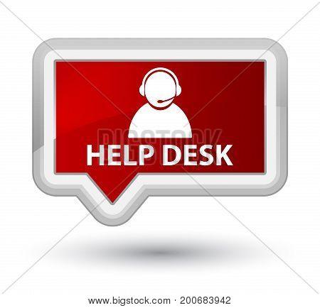 Help Desk (customer Care Icon) Prime Red Banner Button