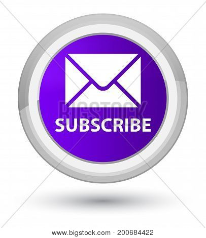 Subscribe (email Icon) Prime Purple Round Button