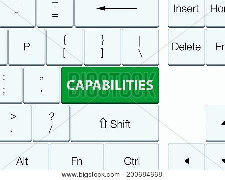Capabilities Green Keyboard Button