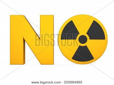 No Nuclear Bomb Sign isolated on white background. 3D render