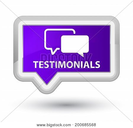 Testimonials Prime Purple Banner Button