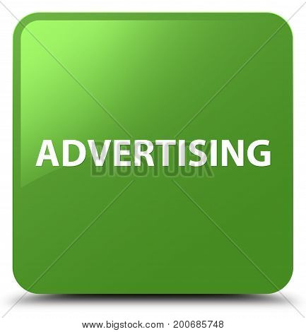 Advertising Soft Green Square Button