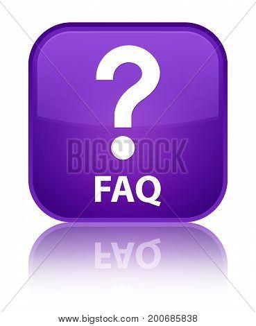 Faq (question Icon) Special Purple Square Button